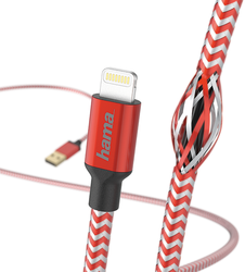 Hama 178298 1.5m Reflective Apple Lightning USB Kablo – Red - Thumbnail